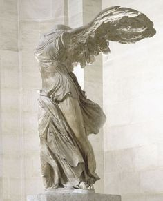 Winged Victory of Samothrace, Louvre Angel Sculpture, Art Sculpture, Winged Victory Of Samothrace, Greek Mythology Art, Louvre Paris, Drawing Projects, Archaeology, Art History, Sculpting