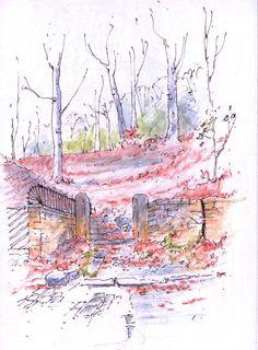 Little Switzerland steps in Leeds ~ sketch ~ John Edwards
