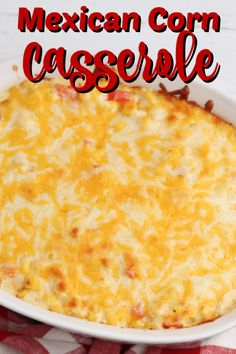 This Mexican Corn Casserole is quick and easy to make. It makes a delicious side dish for a holiday dinner or Sunday Supper! This Mexican Corn Casserole is quick and easy to make. It makes a delicious side dish for a holiday dinner or Sunday Supper! Mexican Corn Side Dish, Taco Side Dishes, Best Side Dishes, Side Dish Recipes, Tasty Dishes, Food Dishes, Side Dishes For Fajitas, Side Dish For Tacos, Side Dishes For Burgers