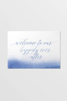 This printable sign is part of the Blue Skies collection. Soothing splashes of blue and casually sloping font combine to bring a touch of beachy bliss to your occasion. He First Loved Us, Welcome, Romantic, Sky, Blue Skies, Signs, Rose Quartz, Serenity, Printable