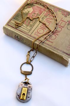 A personal favorite from my Etsy shop https://www.etsy.com/listing/477730122/vintage-lock-necklace-industrial-lock