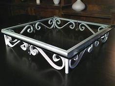 Square Wrought Iron Wedding Cake Stand With Gl Crystals 18 20 Inch Shabby