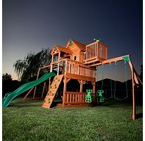 This looks perfect for my kids! Hope to see it in my yard in a couple of months! :) Skyfort Cedar Play Set with Slide