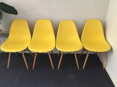 Replica Eames yellow dining chairs x 4   Dining Chairs   Gumtree Australia  Stonnington Area  Wooden chairs   Dining Chairs   Gumtree Australia Manningham Area  . Dining Chairs Gumtree. Home Design Ideas