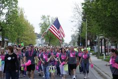 This wonderful group is out here supporting our Cancer Services!  May First Friday 2013. Photo by Jon Stroshine.