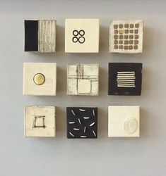 "16""x16""x2.5""as shown each square approx 5""x5""x2.5"" : Currently Available : Lori Katz Ceramic Design 