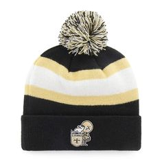4cd069a07fc10c OTS NFL New Orleans Saints Male Rush Down Legacy Cuff Knit Cap with Pom,  $20.00