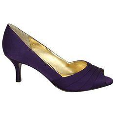 Women's Nina Criana Grape Satin Shoes.com