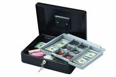 Cash Box, Money Box, Key Storage, Extra Storage, Cash Safe, Bill Holder, Security Safe, Bill Organization, Safe Lock