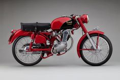 """TheBenelli Leoncino is a masterclass in mid-20th century Italian motorcycle design, it has a timeless aesthetic appeal that wouldn't look at all out of place in a modern art museum. The bike was named Leoncino, meaning """"little lion"""" in Italian, the 125cc 4-stroke has a gear driven overhead camshaft and the crankcase/transmission has a significant tilt, giving the bike an interesting profile."""