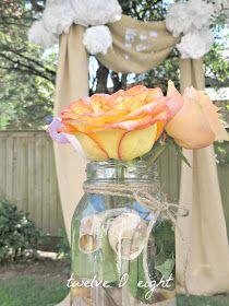 twelveOeight: Rustic Backyard Wedding