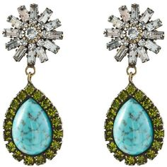 DANNIJO Ranya Earrings ($345) ❤ liked on Polyvore