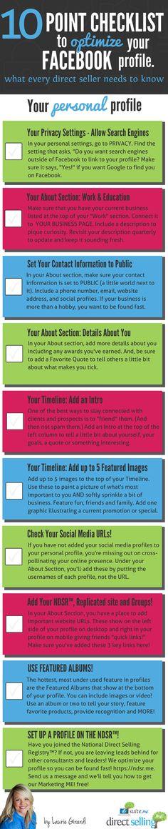 Facebook Profile Checklist