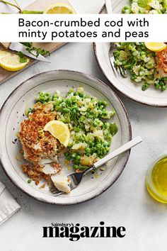 Cod Recipes, Cooking Recipes, Potatoes And Peas Recipe, Curry In A Hurry, Magazine Recipe, Crushed Potatoes, Midweek Meals, Dinner For Two, 500 Calories