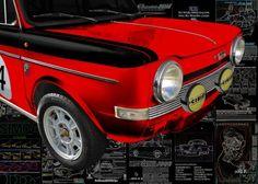 Simca Abarth Rallye Oldtimer Poster