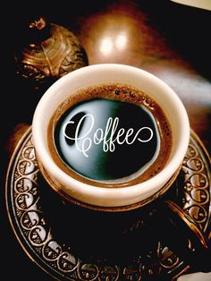 Café ¡Me encanta la taza y el plato!