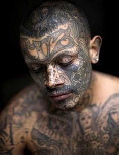 There is a vast difference between gang tattoos of different mafias. The Russian mafia tattoos paid great attention to detail and are secretive in nature, while the American gang tattoos are just marks of membership and do not carry specific meanings. Maori Tattoos, Body Art Tattoos, Cool Tattoos, 13 Tattoos, Neck Tattoos, Tatoos, Awesome Tattoos, Flag Tattoos, Watch Tattoos