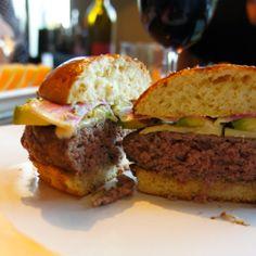 Thomas Keller Burger Recipe on a Brioche Bun with Roasted Garlic Aioli