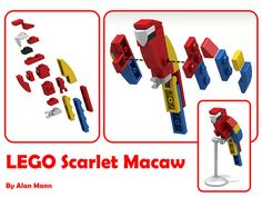 A LEGO scarlet macaw is within your clutch [Instructions]