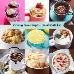 Best 20 Mug Cake Recipes. Which one you like best ?  Check out--> http://wonderfuldiy.com/wonderful-20-mug-cake-recipes/