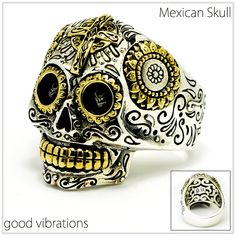 Sugar Skull メキシカンスカル シルバー925 good vibrations 指輪 シルバーアクセサリー 【BodyWell】【楽天市場】