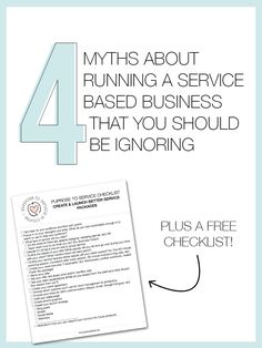 4 Myths About Running A Service Based Business That You Should Be Ignoring - The Alisha Nicole