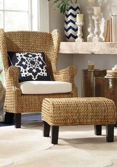 Awesome Santino Wing Chair And Ottoman