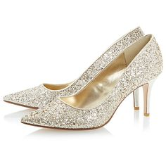 Dune Alina Stiletto Heeled Glitter Court Shoes at johnlewis.com