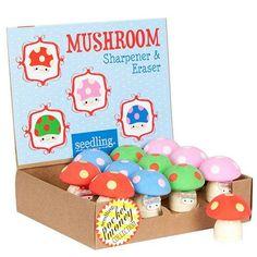 Mushroom Sharpener & Eraser
