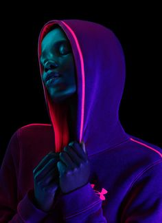 Light and Shadow with Neon Hoodies