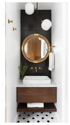 Small Bathroom Paint, Bathroom Design Small, Bathroom Interior Design, Modern Bathroom, Light Bathroom, Bathroom Designs, Bathroom Stencil, Small Toilet Room, Boho Bathroom