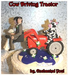 international tractor wedding cake topper i actually like green tractors but since my boyfriend 16467