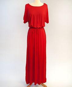 Another great find on #zulily! Red Boyfriend Maxi Dress by White Plum #zulilyfinds