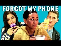 ▶ TEENS REACT TO SMARTPHONES - Various US teenagers react to a video and then answer an interviewer's questions on cell phone use. // VOCAB: 100% true, we're always on our devices; I block out my friends; get pissed (=get angry); run into poles (=crash/walk into them); crack jokes(=make jokes); feel NAKED without it (=undressed); be a loser/lu-zer/ (unsuccessful); try to wean myself off of it (reduce my use)