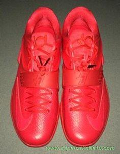 """""""Vermelho Python"""" Vermelho Scaled Leathers KDVII-051 Nike KD VII produtos de basquete"""
