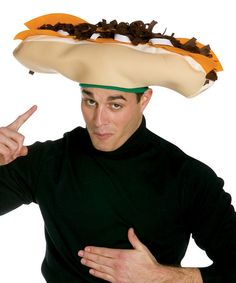 Take a look at this White Cheesesteak Hat on zulily today!