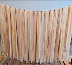 This beautiful fabric garland will add the finishing touch to your wedding or shower decor!  Handmade and packed full of soft blush pinks, blush sequins, laces, whites and ivory linens the garland hangs down 4 feet in length. I can customize the colors for you in anyway you would like so feel free to send me a message.  Photo #4 provided by a very kind customer showing her color choices.  To see more sizes and colors of fabric garlands, click here…