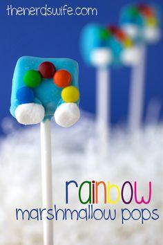 Rainbow Marshmallow Pops with Clouds Rainbow Treats ffbdcd328b9