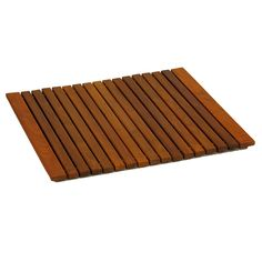 Escape from the ordinary with this Lykos teak roll up string mat. It will bring the feel of a tranquil spa right into your home. Made of responsibly harvested solid teak wood (tectona grandis), it is naturally resistant to mold and mildew.