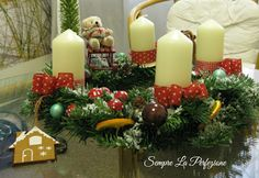 Wianki adwentowe by Sempre La Perfezione cz. Advent, Christmas Wreaths, Table Decorations, Holiday Decor, Home Decor, Decoration Home, Room Decor, Home Interior Design, Dinner Table Decorations