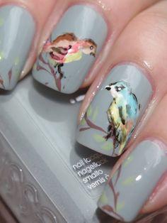 Cath Kidston Garden Birds inspired manicure | Look What I'm Wearing