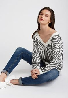 Pull jungle Pulls, V Neck, Shopping, Blouse, Long Sleeve, Sleeves, Collection, Tops, Coaching