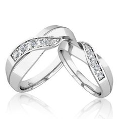 matching wedding bands infinity diamond wedding rings in 18k white gold band his ring - Infinity Wedding Rings