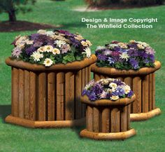 All Yard & Garden Projects - Landscape Timber Planter Trio Wood Plan Landscape Timber Crafts, Landscape Timbers, Landscape Design, Garden Design, Backyard Projects, Outdoor Projects, Garden Projects, Outdoor Plants, Outdoor Gardens