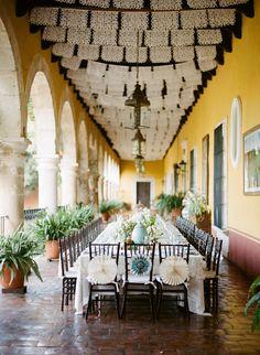 Elegant Mexican reception decor, Jill La Fleur, Jose Villa