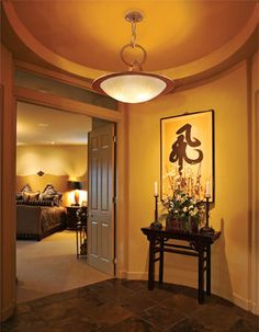 something to do with entrance closet?...Corbett Lighting - traditional - Hall - Miami - 1800Lighting