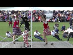 At Aboyne games (2015) you dance the sword in Aboyne dress. With Rachael Walker (56), Duncan Slessor (58)