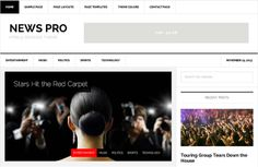 """Gorgeous to look at, easy to set up and packed with features that allow you to quickly create and display new content, the News Pro theme is a complete """"publishing powerhouse""""."""