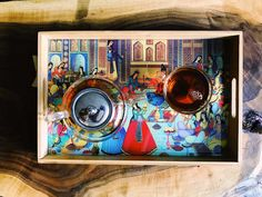 This tray is made of wood with epoxy, water-resistant finish and decoupage. Please do not wash the tray with dishwashing machine or extreme tempratures. For your customized pattern, please contact us. Made Of Wood, Inspired Homes, Decoupage, Tray, Entertaining, Artwork, Lifestyle, Decor, Work Of Art