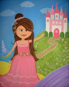 Children Decor Girls Kids Art Prints - Fairytale Princess Castle Kids Wall Art for Kids Room Art from Kids Paintings by TwoLittleWitches. $15.00, via Etsy.